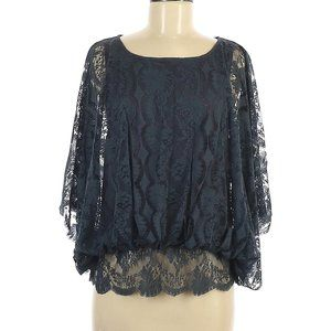 Free People Short Sleeve  Lace Blouse